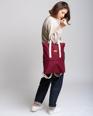 MULINU   Backpack GRETA bordeaux