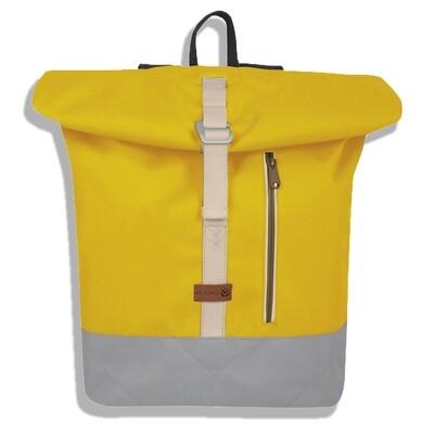 MULINU   Backpack ALBERT yellow light grey
