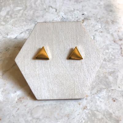 Isa & Roza | Golden Ear Studs Trigons