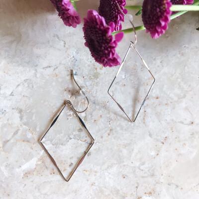 Isa & Roza | Silver Earrings Diamond