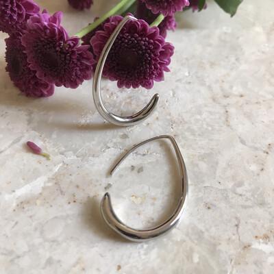 Isa & Roza | Silver Creole Earrings