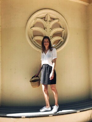 wearable stories | Clara Skirt Dark Grey Lyocell
