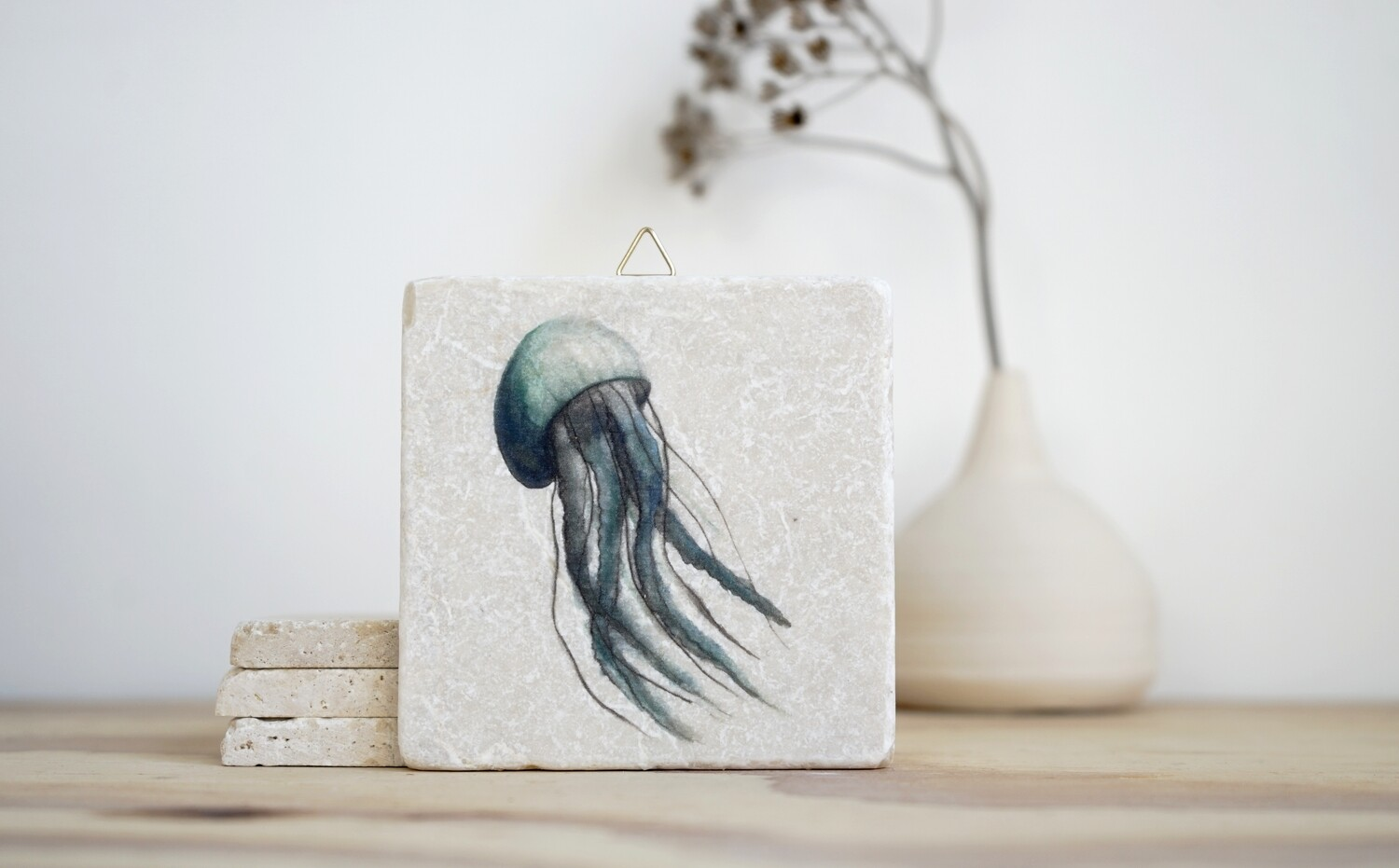 evimstore | Printed Natural Stone Tile - Jellyfish