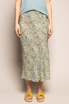 wearable stories | Georgie Viscose Skirt with flowers print