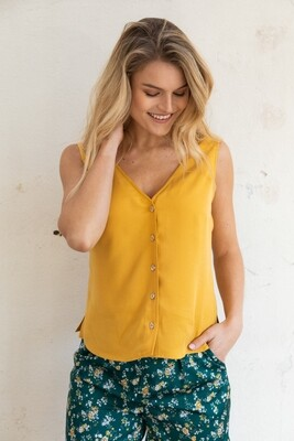wearable stories | Viola Top Ocher - Tencel
