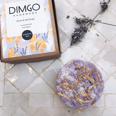 Dimgo | Handmade Natural Shampoo Bar - Lavender & Calendula