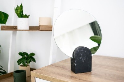 House Raccoon | Archie Mirror - Black Marble