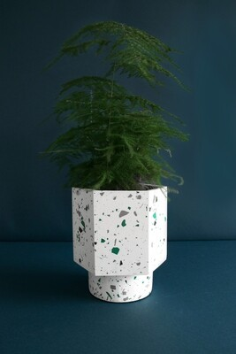 House Raccoon | Self Watering Pot - Terrazzo