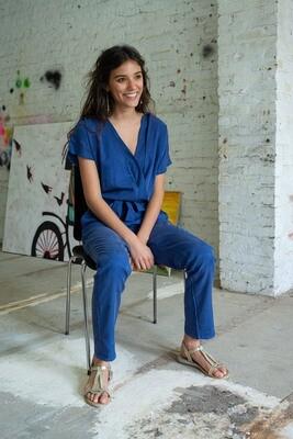 Olá Lindeza | Maxine Jumpsuit (lyocell) - Classic blue