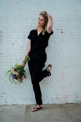 Olá Lindeza | Maxine Jumpsuit (lyocell) - Black