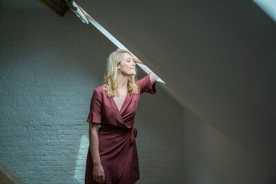 Olá Lindeza | Wrap Dress Brick Red - Lyocell (last one - a size S)