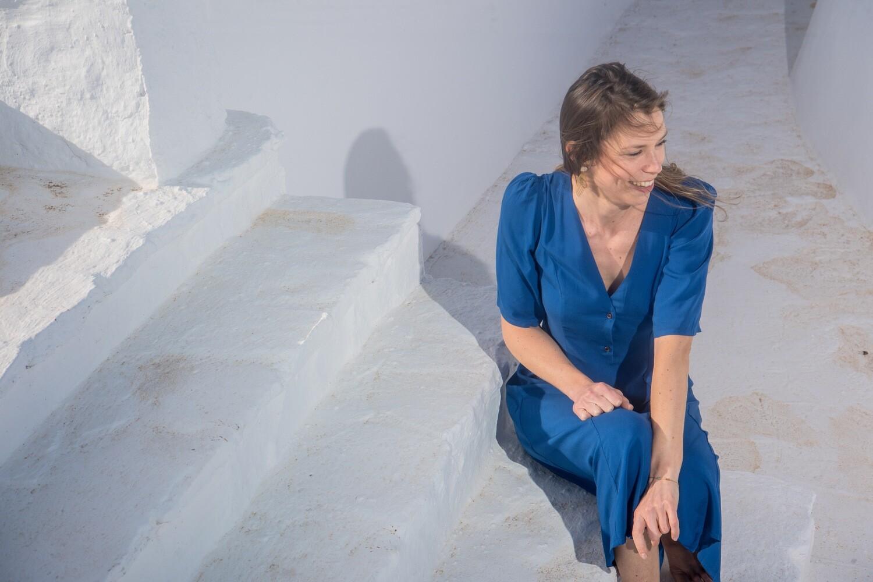 Olá Lindeza   MADRID royal blue dress - Viscose