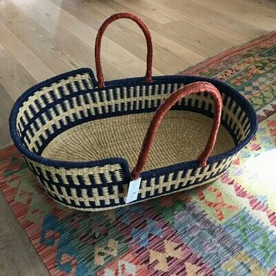 Olá Lindeza | Marine woven baby moses basket