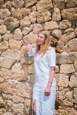 Olá Lindeza | Tropea Linen Kaftan - white