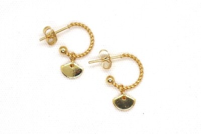 URBAN SWAG | Golden Mini Hoops with golden triangle
