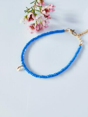 Isa & Roza | Royal blue Bracelet with little feather