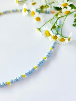 Isa & Roza | Pearls Necklace light blue yellow