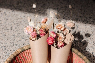 Dried flowers bouquet small | Pink natural