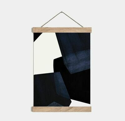 SOMAJ | Magnetic Poster Hanger Oak Wood - 31cm or A3