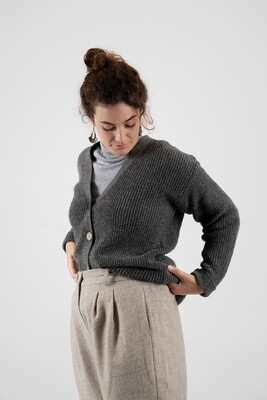 Näz | Wool Cardigan - Dark Grey