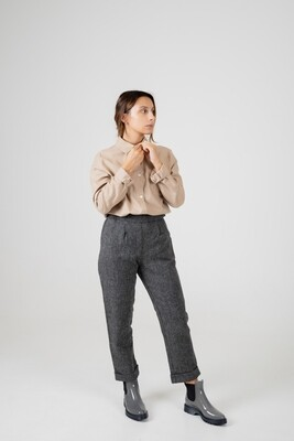 Näz | Cotton-Cashmere Blouse Shirt - Beige