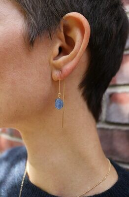 URBAN SWAG | Golden ear chains with Blue Kyanit