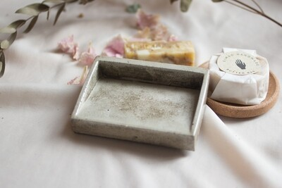 Soap Tray Zag - made of fine pure concrete (available in different colors)