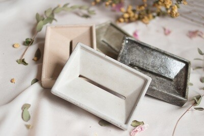 Soap Tray Zig - made of fine pure concrete (available in different colors)
