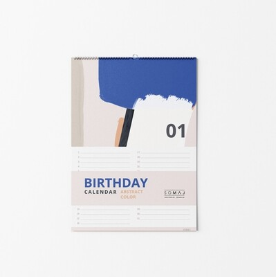 SOMAJ | Birthday Calendar - Abstract Color A4