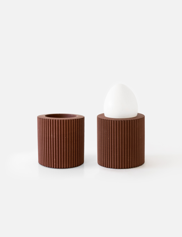 House Raccoon   Egg Cups - Maroon brown (set of 2)