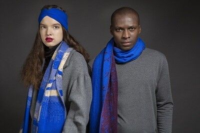Wolvis | Knitted Head Band - Electric Blue (one left!)