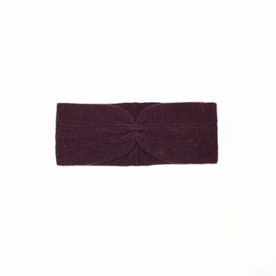 Wolvis | Knitted Head Band - Aubergine