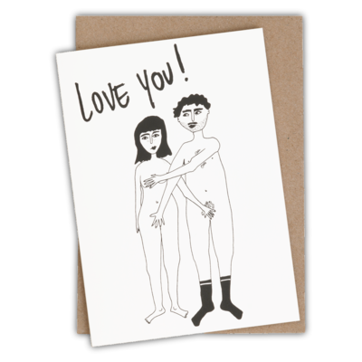 helenb | Greeting card with envelope - naked couple love you
