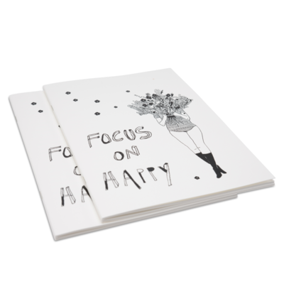 helenb | Focus on happy - Softcover Notebook A5 flowergirl