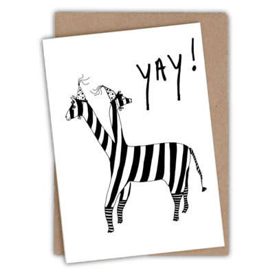 helenb | Greeting card with envelope - lama yay!