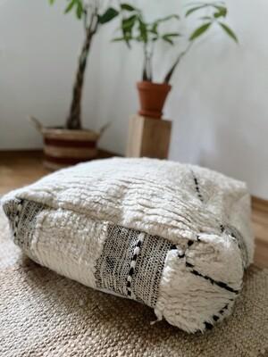 Olá Lindeza | Beni Ourain Berber Pouf - Floor Pillow