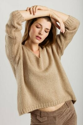 wearable stories | Wool Pullover - Sand (one size - loose fit)