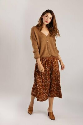wearable stories | A-line Skirt Viscose - Rust print