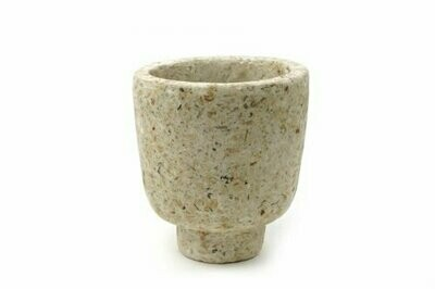 Kinta | Vase on foot cap - upcycled paper & wood pulp (without plant)
