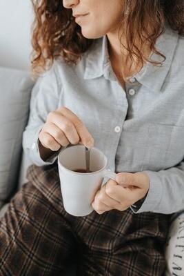 Näz | Cotton-Cashmere Blouse Shirt - light gray (last one - a size S)