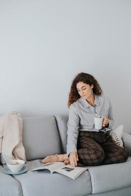 Näz | Cotton-Cashmere Blouse Shirt - light gray