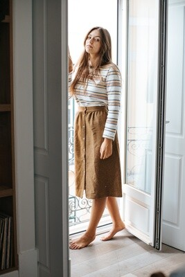 Näz | Safira Wool Skirt - Mustard (one left - a size M/L)
