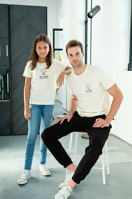 Joh Clothing | T-shirt be a light in this world kids - natural/raw