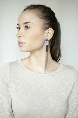 Studio Nok Nok | Classic Blue Golden Earrings