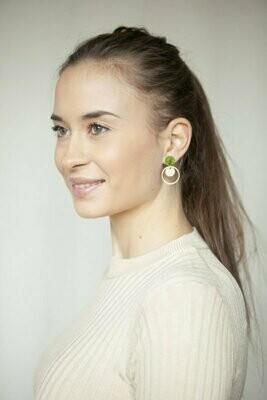Studio Nok Nok | Golden Forest Circles Earrings