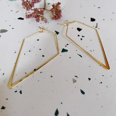 Golden Angular Hoops