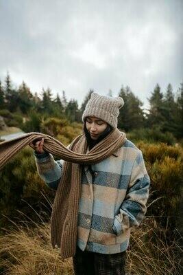 Näz | Wool Scarf - Beige/Brown