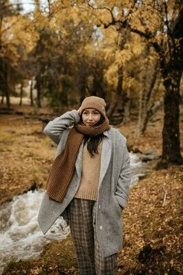 Näz | Wool Scarf - Mustard