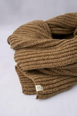 Näz | Wool Scarf - Beige/Brown (one left)