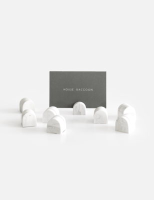 House Raccoon | Card Holders (set of 8) - White marble
